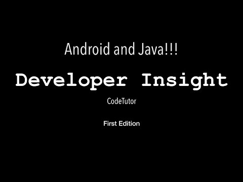 Developer Insight - First Edition, Android and Java!!!