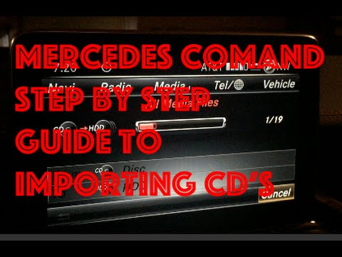 mercedes comand system importing cd 39 s to the comand system hard drive youtube. Black Bedroom Furniture Sets. Home Design Ideas