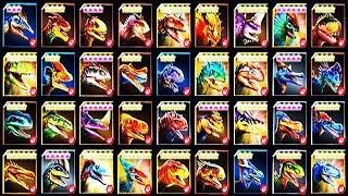 ALL MAX LEVEL 40 CARNIVORES (JURASSIC WORLD)