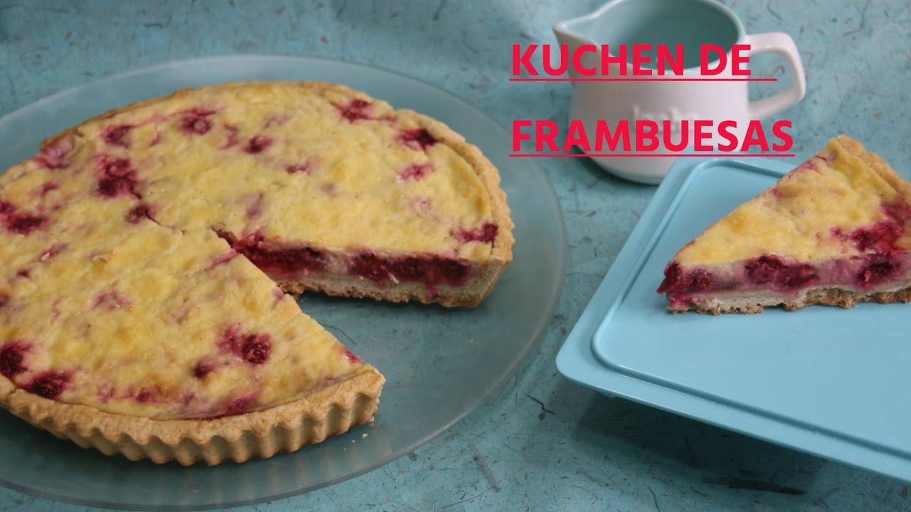 Kuchen o tarta de frambuesa youtube for Youtube kuchen