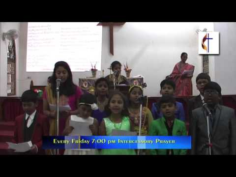 Sunday School Sunday Service at Epworth Methodist Chruch Nerul, Navi Mumbai