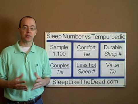 Perfect Sleep Number / Select Comfort Vs Tempurpedic Mattress Bed   YouTube