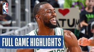 CAVS at CELTICS | Celtics Block 9 SHOTS in Win | NBA Preseason 2019