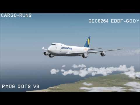 Cargo Runs - Lufthansa Cargo Südamerika Umlauf - Part 2 EDDF-GOOY Enroute/Arrival [English]