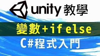 Unity C# 程式 教學 奶茶2杯 雞排要切 ( Debug 變數 if else 判斷句 )