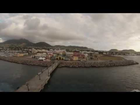 Basseterre, St. Kitts - Jewel of the Seas Arrival Time Lapse HD (2015)