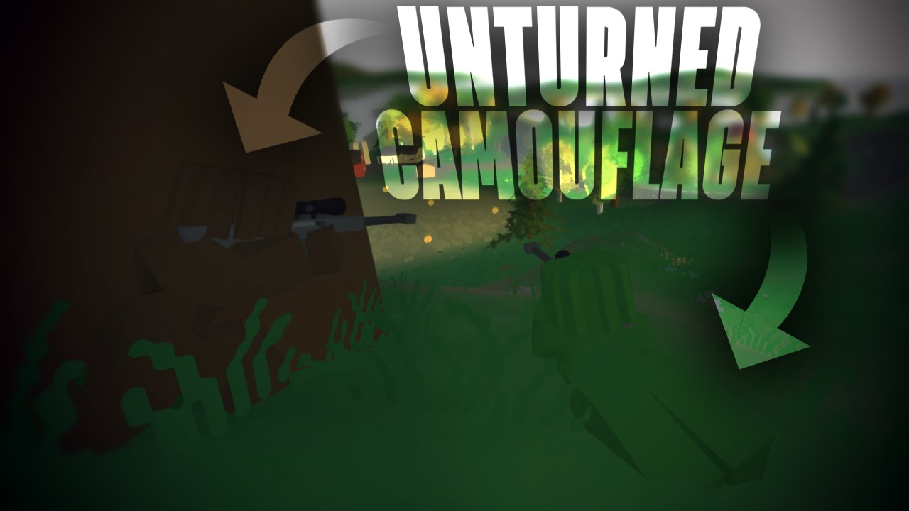 Unturned how to make the perfect camouflage for any material