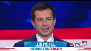 WATCH: Buttigieg on moving 'policing out of the shadow of system racism' | 2019 Democratic Debates