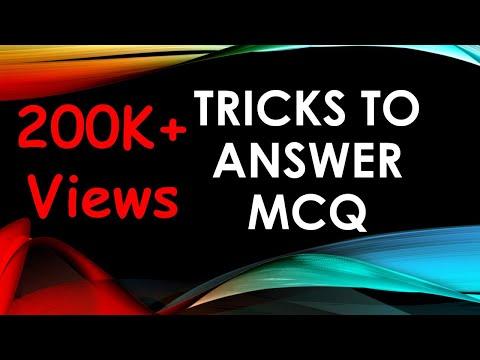Tricks To Answer MCQ Using Scientific Methods