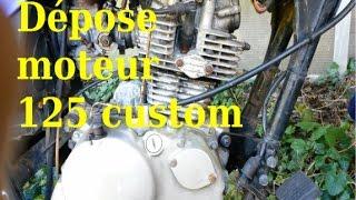 Dépose moteur 125 custom