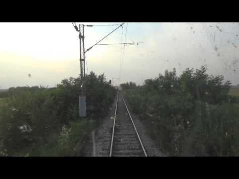 Train Driver's view: railroad in Serbia from Ostruznica to Surcin  2/3 - SERBIAN RAILWAYS