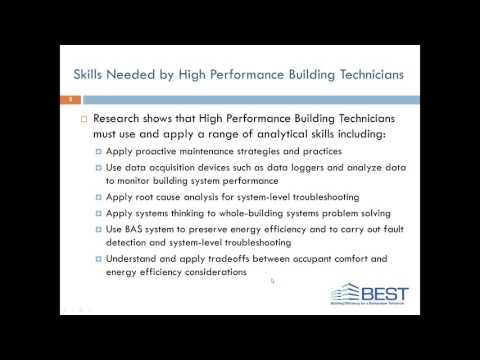 Webinar: Resources for Building Technician Educators
