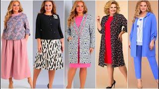Сумасшедшей КРАСОТЫ женские костюмы НОВИНКИ 2021 Unreal beauty elegant dresses for full woman