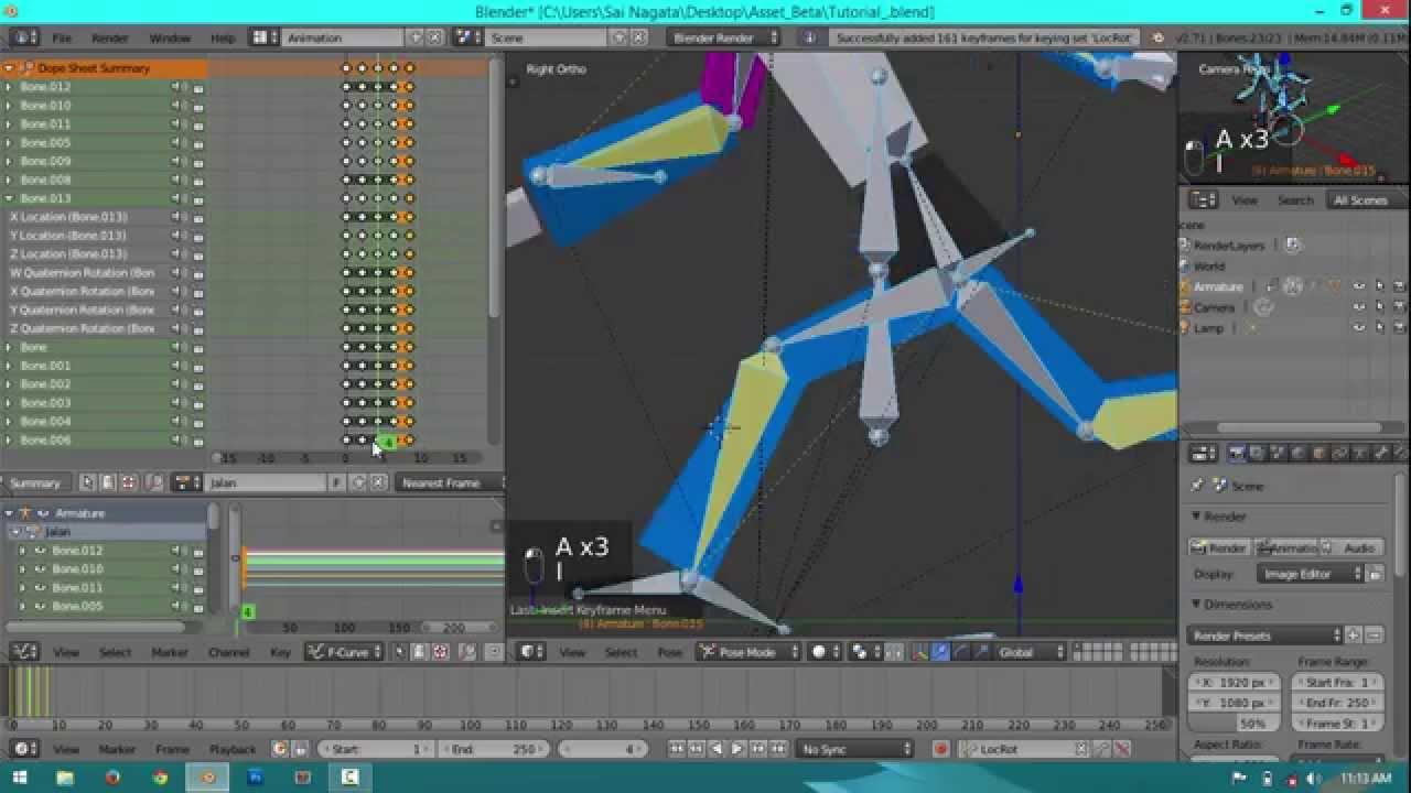 Quick Tutorial Blender Modelling Dan Animating 3 Membuat Animasi