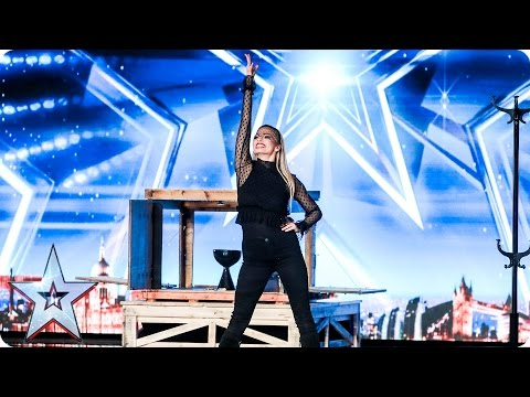 Josephine Lee works her magic on the Judges  Auditions Week 3  Britain's Got Talent 2017