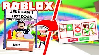 I ONLY Traded HOT DOG STANDS in Adopt Me! NEW Adopt Me Hot Dog Stand Update (Roblox)