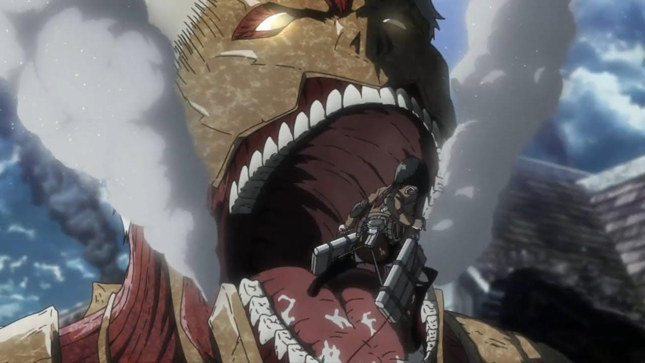 Legión de Reconocimiento vs Reiner - Shingeki no Kyojin temporada 3 parte 2 capitulo 5