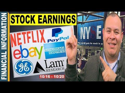 October Stocks Earnings📊 Netflix, Lam Research, eBay, American Express, Paypal, Verizon, GE, PG