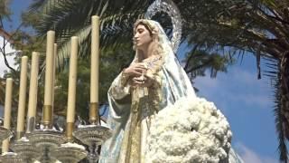 Procesión Gamarra 2017. Virgen del Buen Camino por los jardines.