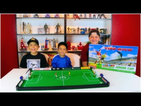 TIPP KICK TABLETOP SOCCER GAME! IT GOES TO PENALTY KICKS TO WIN!!