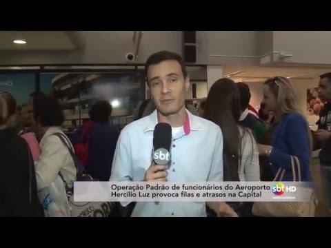 Operação Padrão de funcionários do Aeroporto Hercílio Luz provoca filas e atrasos na Capital