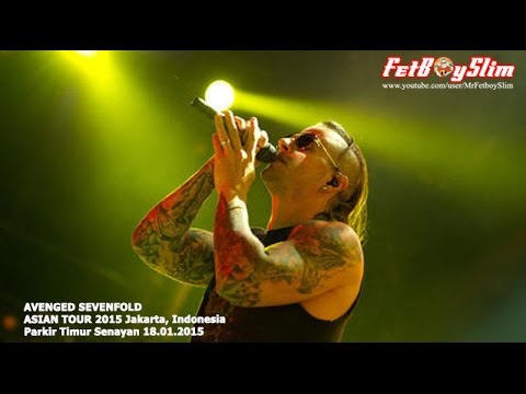A7X AVENGED SEVENFOLD - BURIED ALIVE live in Jakarta, Indonesia 2015