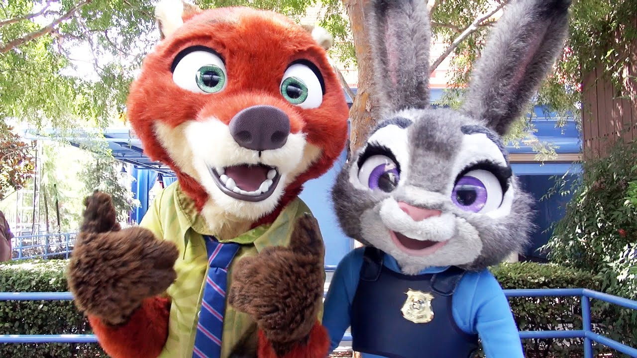 Nick Wilde Judy Hopps From Disneys Zootopia Meet Greet Disney