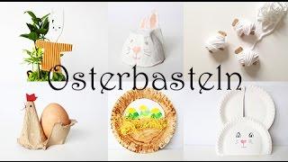 6 Ideen zum Basteln aus Müll mit Kindern. Hase aus Papptellern, Eierbecher-Huhn, Wickelschaf
