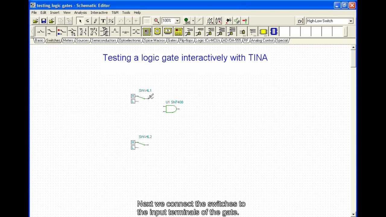 Circuitlab Logic Gates Test
