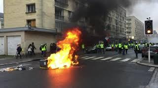 Les débordements lors de la 10ème journée de mobilisation des Gilets jaunes à Caen