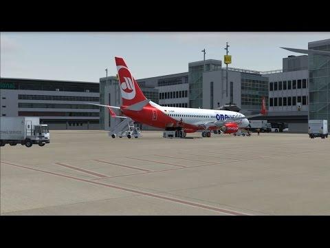 FSX PMDG Air Berlin 737-800 NGX Dusseldorf EDDL to Thessaloniki LGTS