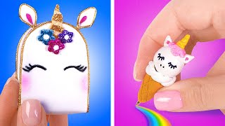 DIY Super Cute Miniature UNICORN School Supplies