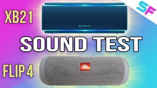 Sony SRS-XB21 vs JBL Flip 4 Sound Test - Which one is the better?