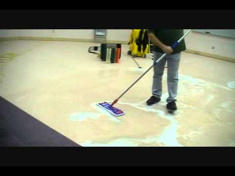 Floor Tech Chemical Stripping - YouTube