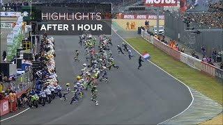 24 Heures Motos - Highlights after 1 hour
