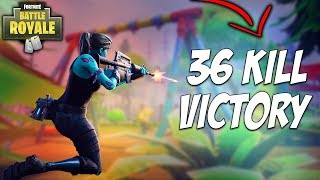 36 Kill Squad WIN - Fortnite Battle Royale