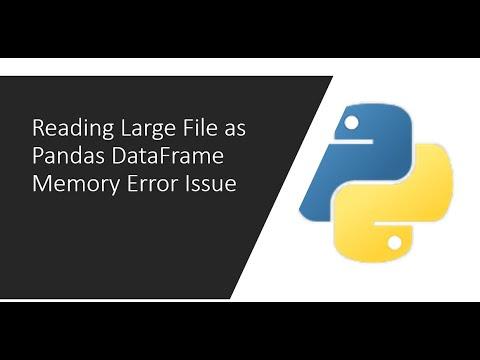 Reading Large File As Pandas DataFrame  Memory Error Issue
