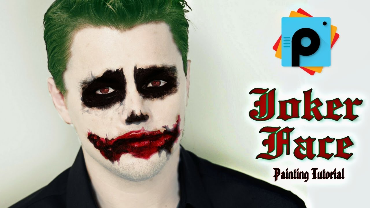 picsart editing tutorials how to make joker face in. Black Bedroom Furniture Sets. Home Design Ideas
