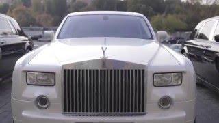 Прокат Авто на свадьбу Rolls Royce / роллс ройс Фантом белый