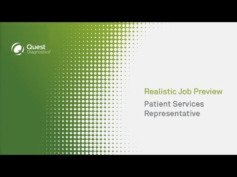 Patient Services Representative (Phleb) – Realistic Job Preview