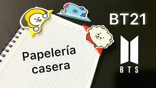 8 separadores / marcapáginas de los BT21 | Papeleria casera