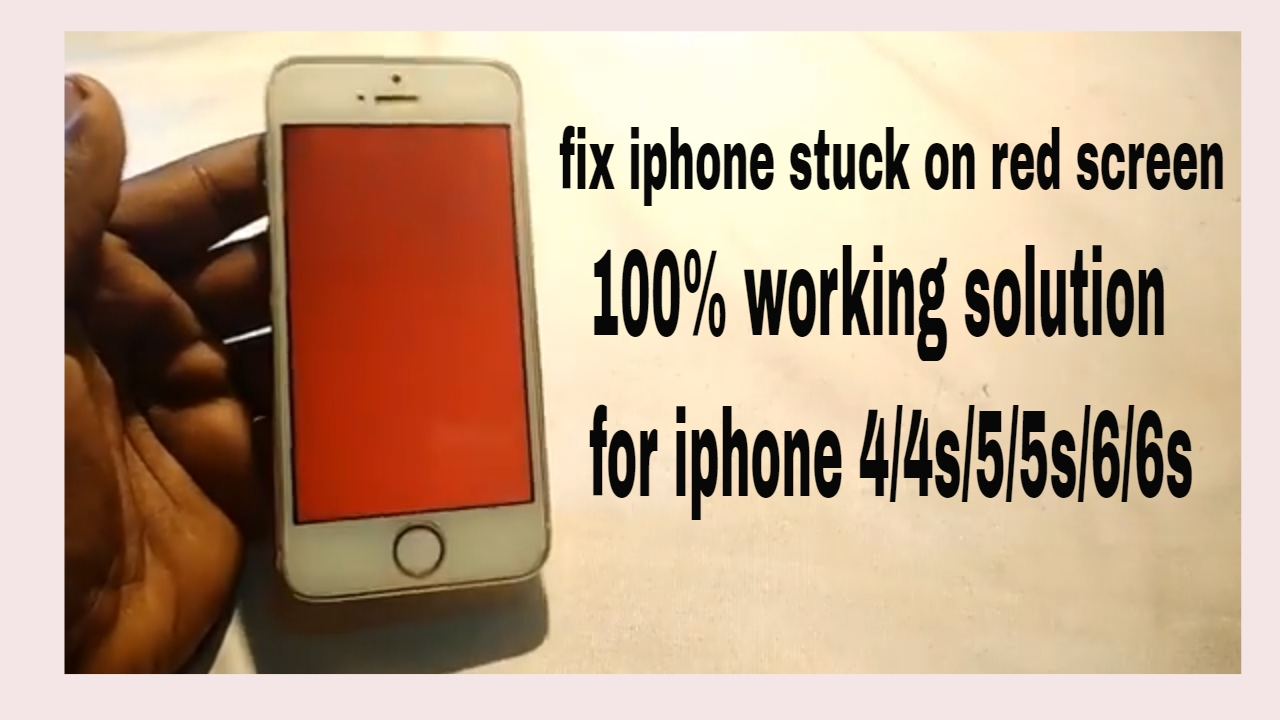 iphone red screen how to fix iphone stuck on screen 7467
