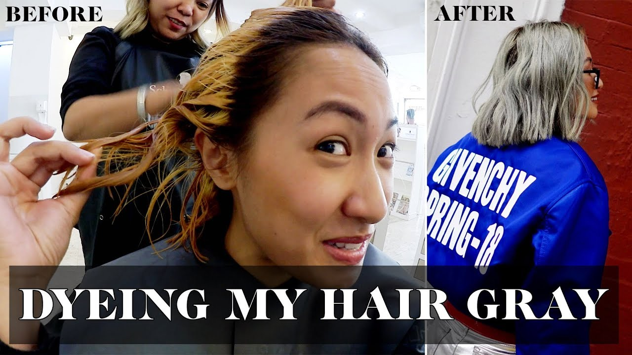 Dyeing My Hair Gray Laureen Uy Youtube
