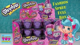 Shopkins Fashion Spree Full Box Opening Unboxing | NEW Toy Review | PSToyReviews