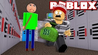 ROUBANDO A ESCOLA DO BALDI'S BASICS no ROBLOX → Robbery Simulator 🎮