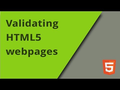Validating HTML5