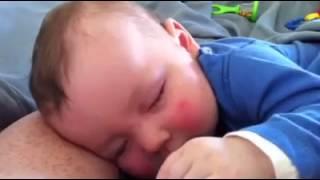 Baby laught in his sleep :XXXXXX