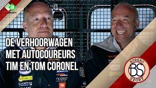De Verhoorwagen met autocoureurs Tim en Tom Coronel