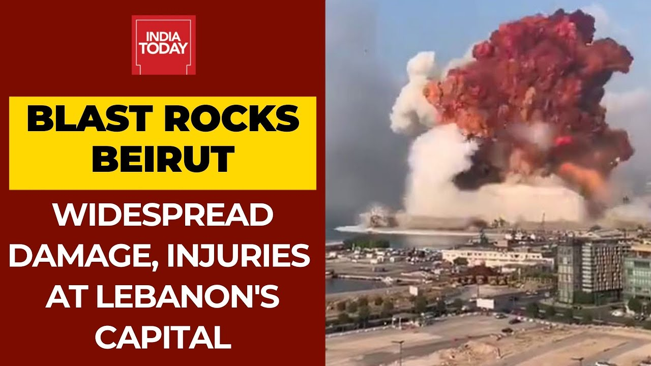 Massive Explosions Rock Beirut, Many Feared Trapped In Rubble