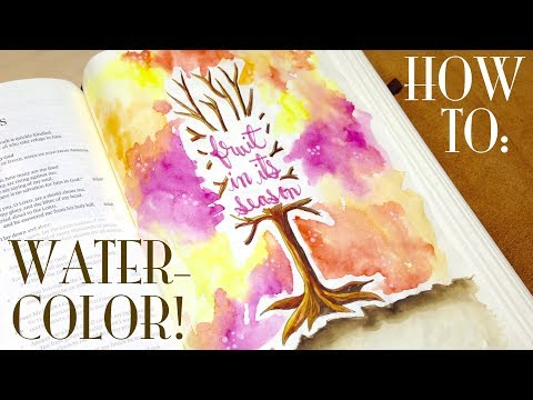 Bible Journaling HOW-TO: Watercolor in Your Bible (Psalm 1)